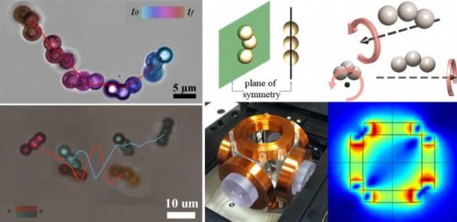 마이크로미터 단위의 구슬을 연결해 만든 모듈형 나노로봇. - 김민준 제공